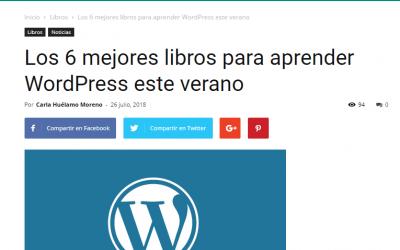El GuíaBurros: Crear una web en wordpress, de Daniel Regidor, considerado como uno de los mejores libros para aprender a usar wordpress